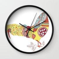 breakfast club Wall Clocks featuring The Breakfast Club by Mike Schofield