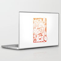 it crowd Laptop & iPad Skins featuring Monster crowd by dreadpen