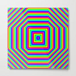 Insane Stripes Remix Color Metal Print