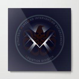 Hidden HYDRA - S.H.I.E.L.D. Logo with Wording Metal Print