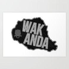 Wakanda Art Print