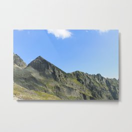 Mountain summit in the clear sky. Metal Print