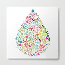 Flower Drop Metal Print