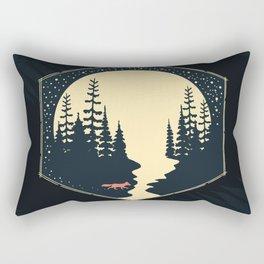 Moon Fox Rectangular Pillow