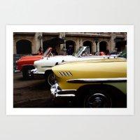 cubas old cars Art Print