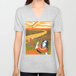 Dorothy in the Poppy Field Unisex V-Neck