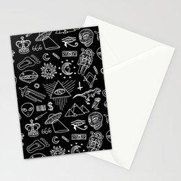 Conspiracy pattern (Censored version) Stationery Cards