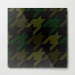 Camouflage Houndstooth/Dogtooth Metal Print