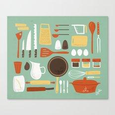 Kitchen Inventory Canvas Print
