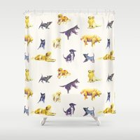 puppies Shower Curtains featuring Puppies! by ascaliers
