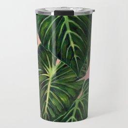 Tropical II Coral Travel Mug