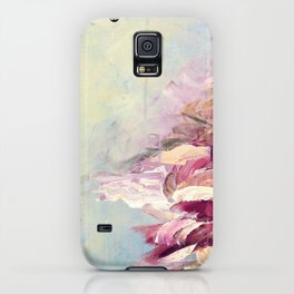WINTER DREAMLAND 1 Colorful Pastel Aqua Marsala Burgundy Cream Nature Sea Abstract Acrylic Painting  iPhone Case