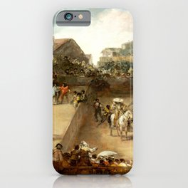 """Francisco Goya """"Bullfight in a Divided Ring"""" iPhone Case"""