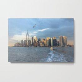 City Skyline w/ Bird Metal Print