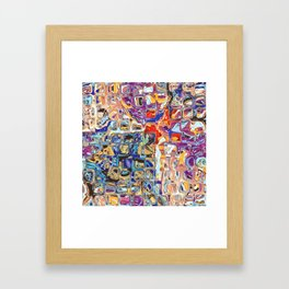 Abstract Glass Blocks Framed Art Print