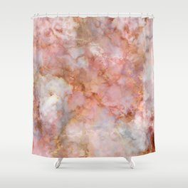 Beautiful & Dreamy Rose Gold Marble Shower Curtain
