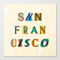 san francisco Canvas Prints featuring San Francisco by Fimbis
