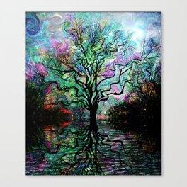 Van Goghs Aurora Borealis Reflection Canvas Print