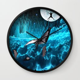 Swimming In The Clouds Wall Clock