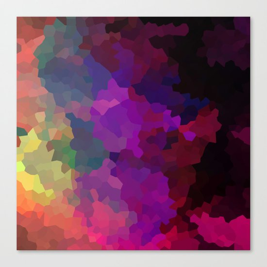 Multicolored abstract pattern . A firework of colors . Canvas Print