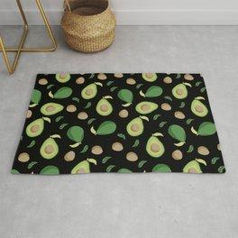 Avocado gen z fashion apparel food fight gifts black Rug