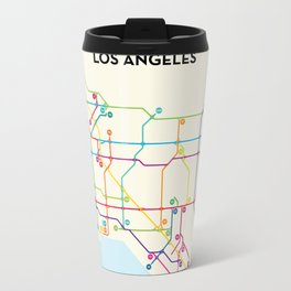 Los Angeles Freeway System Travel Mug