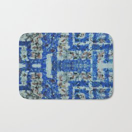 Abstract anarchism blue pattern Bath Mat