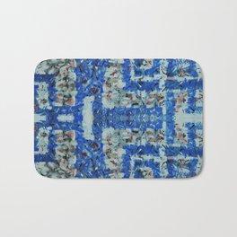 Abstract anarchism blue pattern Bath Mat