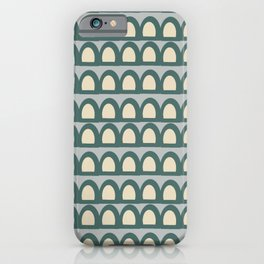 Green Arches in Gray iPhone Case
