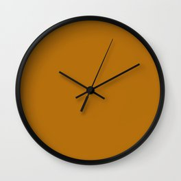 Colors of Autumn Ochre Brown Solid Color Wall Clock