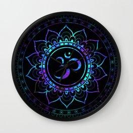 Om Mandala: Colorful Galaxy Wall Clock