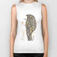 rasta Biker Tanks featuring yellow rasta by kaju.ink