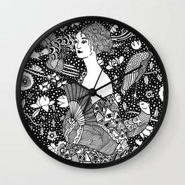 Klimt. Lady with fan. 1918 Wall Clock