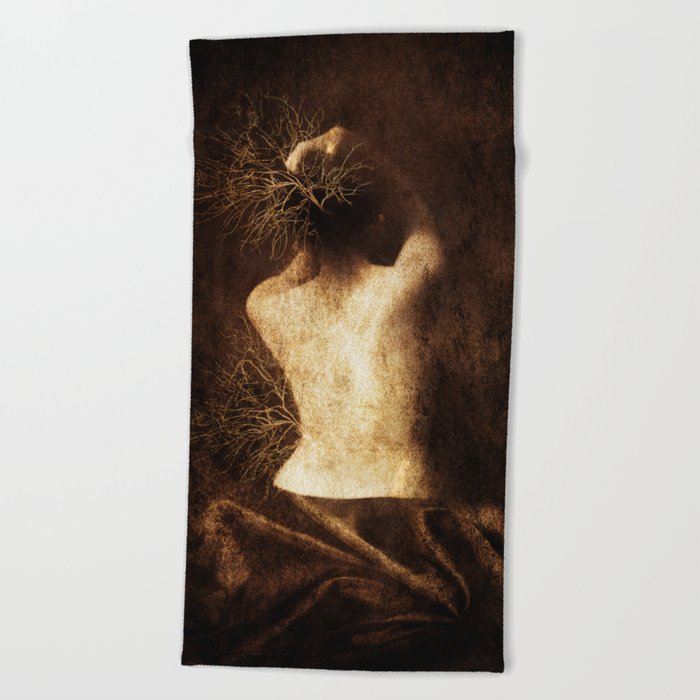 Juliette. Portrait. Beach Towel