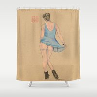 ninja Shower Curtains featuring A Ninja by Bryan James