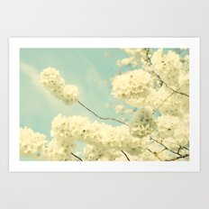 The Blossom and the Bee Art Print