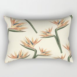 Birds of Paradise Flowers Rectangular Pillow