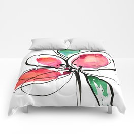 Ecstasy Bloom No. 3 by Kathy Morton Stanion Comforters