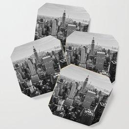 Black & White NYC Skyline Coaster