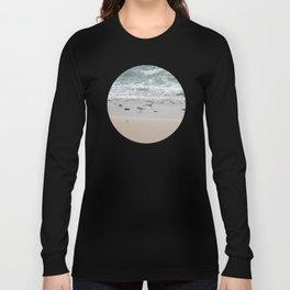 Seashore Sandpipers in tideland Long Sleeve T-shirt