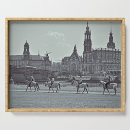 Horse riding in Dresden, Germany - Fine Arts Travel Photography Serving Tray