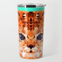 Geometric Kitten Travel Mug