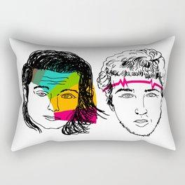 Daft Punk portrait Rectangular Pillow