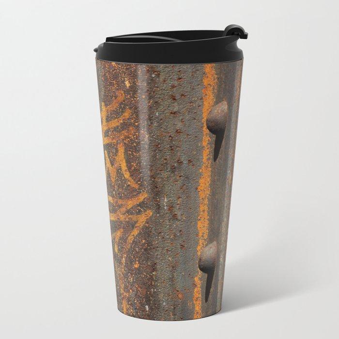 Raw Steel Metal Travel Mug