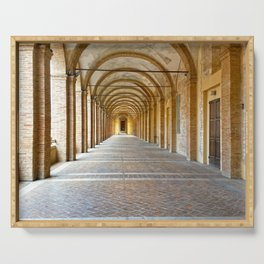 Italian architecture city of Fabriano Serving Tray
