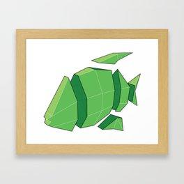 Illustration of a 3D Paper Craft Fish Model Framed Art Print
