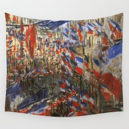 """Claude Monet """"The Rue Saint Denis, 30th of June 1878"""" Wall Tapestry"""