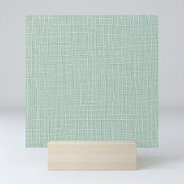 Grey Threads on Mint Mini Art Print