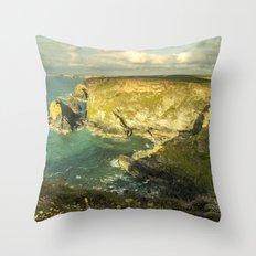 Godrevy Seascape  Throw Pillow