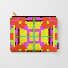 Key Lime Floral Cross Square Carry-All Pouch